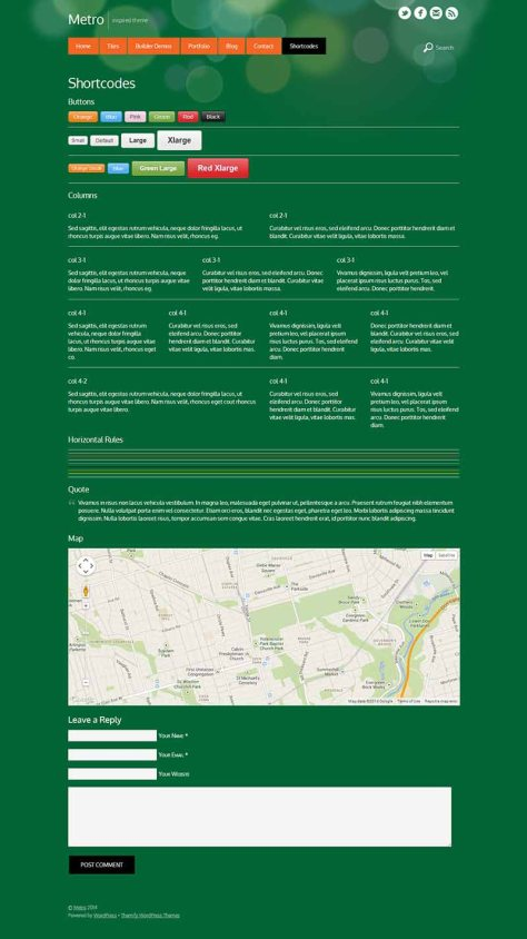 Metro - Shortcodes