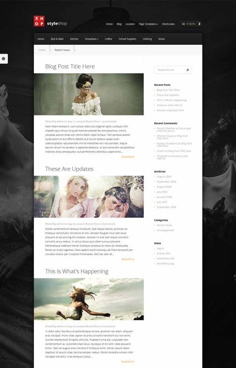 StyleShop - Blog